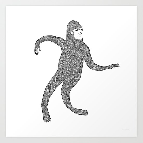 Bigfoot Doing The Wave by annpickard