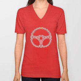 Steering Wheel Unisex V-Neck