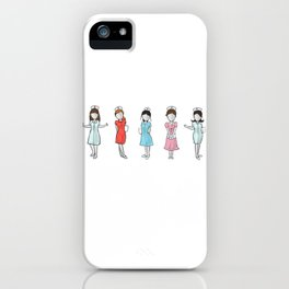 Nurse hospital are my heroes iPhone Case