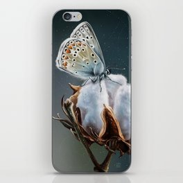 Cotton & Butterfly iPhone Skin
