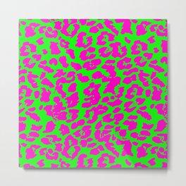 Neon Leopard Print Metal Print