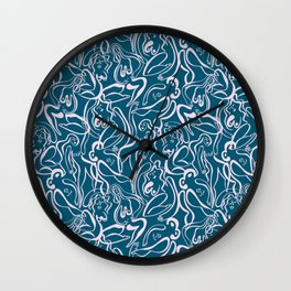 Movin' and Shakin' Teal/Pink Wall Clock