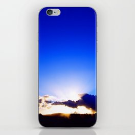 """Flickering Sunset"" with poem: There Are Moments iPhone Skin"