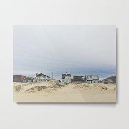 Beach front homes Metal Print