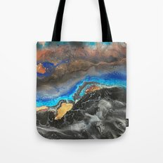 Storm Brewing - Fluid art on canvas Tote Bag