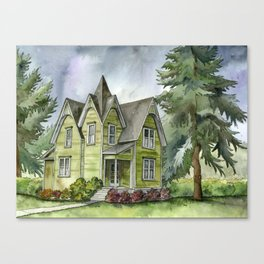 The Green Clapboard House Canvas Print