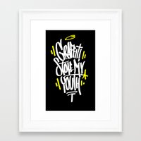 graffiti Framed Art Prints featuring Graffiti by squadcore