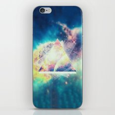 Awsome collosal deep space triangle art sign iPhone Skin