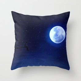 Jimin Serendipity Talking to the Moon Throw Pillow