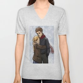 Chaol and Celaena3 Unisex V-Neck