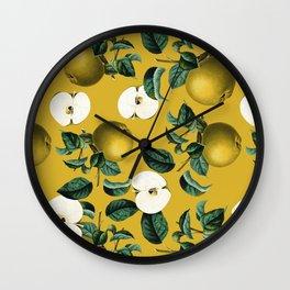 Vintage Fruit Pattern III Wall Clock
