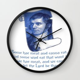 The Selkirk Grace Burns Night Supper Poem Wall Clock