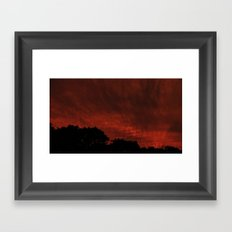 This sky is on FIRE Framed Art Print