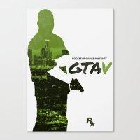 gta v Canvas Prints featuring City of Angels - GTA V by Samuel Barnett