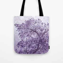 Beautiful Pine Tree Silhouette Purple Color #decor #society6 #buyart Tote Bag