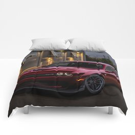 Octane Red Challenger SRT Hellcat Comforters