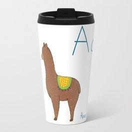 A for Alpaca Travel Mug