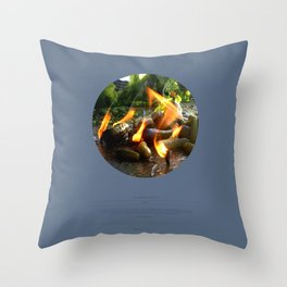 The Trickle Down (This Burning World 4) Throw Pillow