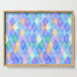 Abstract geometric pattern with rhombus Serving Tray