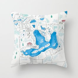 Big Star Lake Throw Pillow