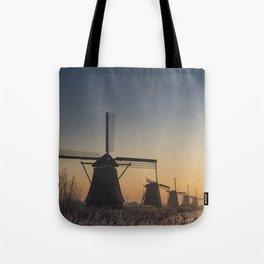 Sunrise at Kinderdijk Tote Bag