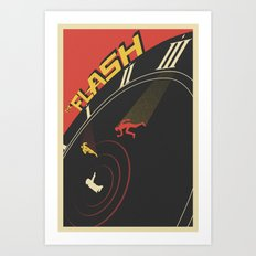 Run Barry Run Art Print