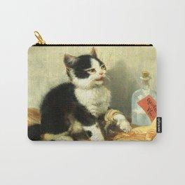 cute kitten 1- Julius Adam - the little patient -1885- pet,whikers,cat,kitty,kitten Carry-All Pouch