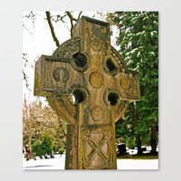 celtic Canvas Prints featuring Celtic snow by Vorona Photography