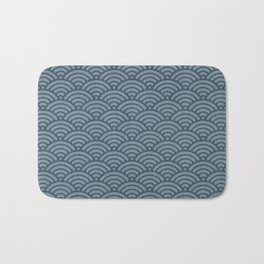 Blue Indigo Denim Waves Bath Mat