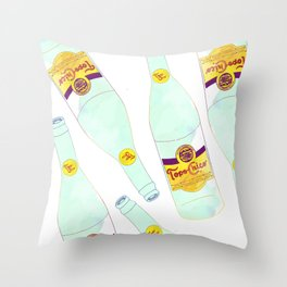 Topo Chico Sparkling Water Seltzer Bottle Throw Pillow
