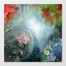 Spring paradise painting Canvas Print