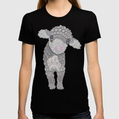 Little Lamb Womens Fitted Tee LARGE Black