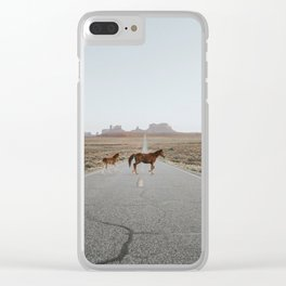 Valley Horses Clear iPhone Case