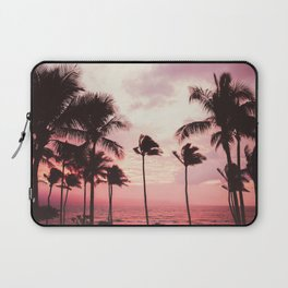 Tropical Palm Tree Pink Sunset Laptop Sleeve
