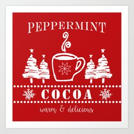 peppermint cocoa Art Print