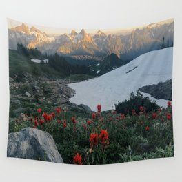 Wildflowers at Mt. Rainier Wall Tapestry