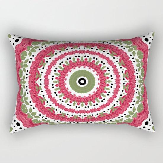 Rosy dreams. Kaleidoscope. Rectangular Pillow