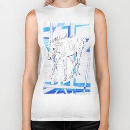 Collage Zebra 43 Biker Tank