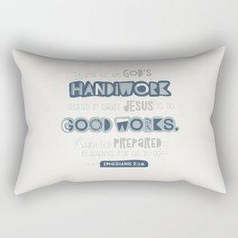 We Are God's Handiwork Rectangular Pillow
