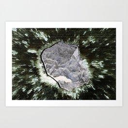 Smart Snow Stone II Art Print