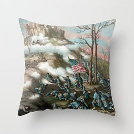 The Battle of Lookout Mountain Throw Pillow