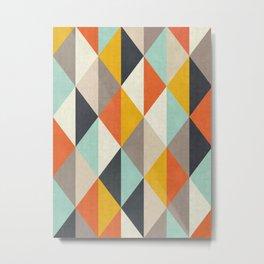 Colorful Lozenges Metal Print