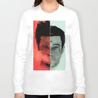 tyler durden Long Sleeve T-shirts featuring Tyler Durden V. the Narrator by qualitypunk