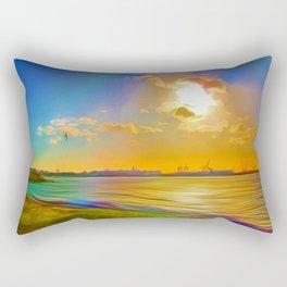 Sunrise at the Marina Rectangular Pillow