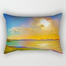 Sunrise at the Marina Rectangular Pillow