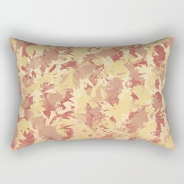 Orange fuzz Rectangular Pillow