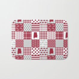 Alabama bama crimson tide cheater quilt state college university pattern footabll Bath Mat