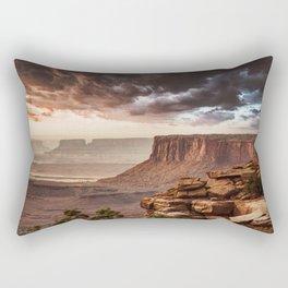 dramatic sky in moab Rectangular Pillow