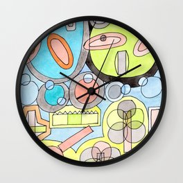 Abstract Star Colony Pattern Wall Clock