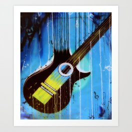 Weeping Guitar Art Print